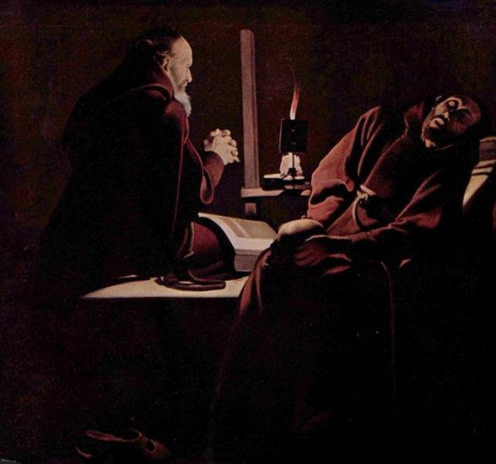 St. Francis in Extasy, also called The Praying Monk beside the Dying Monk